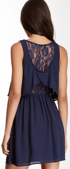 Lace Back Popover Dress