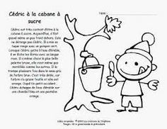 cabane a sucre coloriage - Recherche Google French Teaching Resources, Teaching French, Core French, French Class, Class Activities, Winter Activities, Listening Activities, Play Based Learning, Kids Learning
