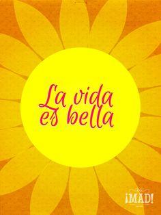 Life is Beautiful | La vida es Bella // #Design #Frases #Flor #Typography