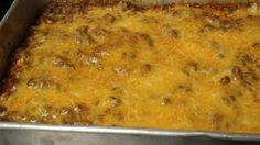 Cheese filled tortillas are covered with a spicy meat sauce and cheese before baking. Growing up all my life in South Texas, this dish was a staple!