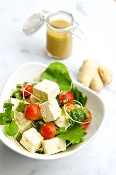 The Salty Tomato | Ginger, Watercress and Tofu Salad – Meatless Monday | http://the-salty-tomato.com