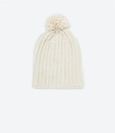 Image 1 of KNITTED HAT from Zara
