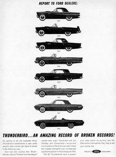 Ford Thunderbird - 1955 to 1962