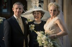 The Sign of Three: Martin Freeman, Amanda Abbington, Benedict Cumberbatch and Una Stubbs in photos from John and Mary's wedding in Sherlock ...