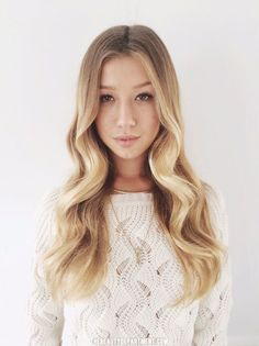 center part with waves via The Beauty Department