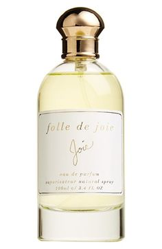 Free shipping and returns on Joie 'Folle de Joie' Eau de Parfum at Nordstrom.com. Folle de Joie Eau de Parfum captures the carefree yet sophisticated Joie lifestyle, with inspiration taken from California's sea-scented beaches and romanticized with a bit of Parisian charm.<br><br>Notes: sweet citrus, woodsy florals, cognac, jasmine, rose, spicy wood, leather.