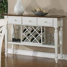 Check out the Coaster Furniture 104005 Ashley Two-Tone Server with Wine Rack priced at $491.57 at Homeclick.com.