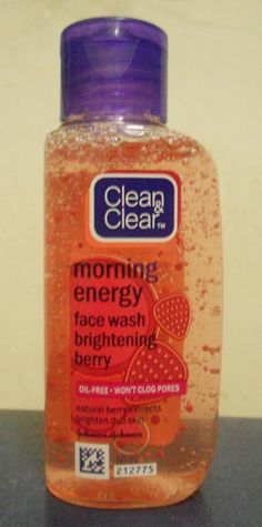Clean and Clear Morning Energy Face Wash  Brightening Berry, refreshing & cleansing without drying skin out!! Clear Blackheads, Best Facial Cleanser, What Was I Thinking, Clear Face, Clogged Pores, Face Wash, Beauty Routines, Natural Skin Care, Health And Beauty