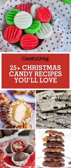 Bring the sweetness to Christmas this year by making one of these homemade candy recipes.