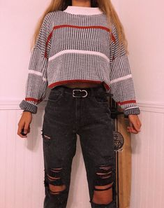 look 32 Stunning Edgy Outfits For School You Need To Try Trendy Fashion Ideas Cute Casual Outfits, Classic Outfits, Retro Outfits, Vintage Outfits, Classic Clothes, Edgy Outfits, Casual Wear, Mode Outfits, Winter Outfits