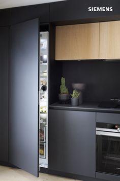 Kitchen Room Design, Interior Design Kitchen, Interior Decorating, Black Kitchens, Home Kitchens, Contemporary Kitchen Design, Kitchenette, Kitchen Furniture, Kitchen Remodel