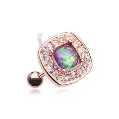 Rose Gold Opal Sparkle Cartilage & Tragus Stud