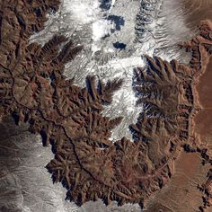The GrandCanyon, Utah .  AstroPhot by  Barry Wilmore,  from the International Space Station