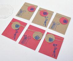 Handmade Mini Gift Bag with mini tag  Kraft by LeIdeeDellaVale, €5.00