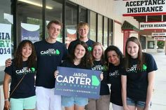 Carter Campaign offices around Georgia are excited to show their support for Jason #Carter4Governor