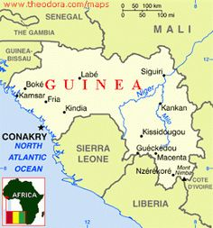 GuineaBissau location on the Africa map Maps Pinterest Guinea