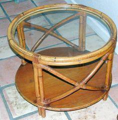 Vintage Cane End Table