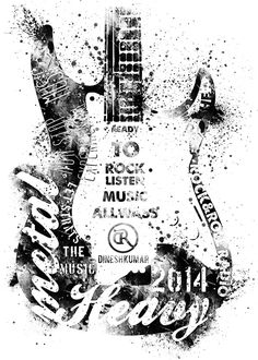 Ideas music logo design inspiration typography for 2019 Silk Screen T Shirts, Etiquette Vintage, Shirt Print Design, T Shirt Print, Pop Rock, Music Logo, Guitar Art, Silk Screen Printing, Grafik Design