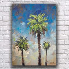 Palm trees never go out of style. Original painting on canvas.