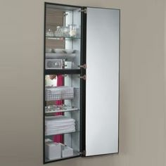 speaking of the wall wall space is going to be your ally you can install a built in wall unit like the m series full length mirrored cabinet from robern