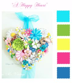 Brooch Bouquet Colour Boards -