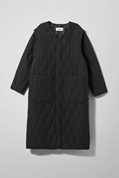Jackets & coats - Categories - Women - Weekday DK Sock Store, Collarless Jacket, Quilted Jacket, Fashion Brand, Jackets For Women, Black Jackets, Cover Up, Leather Jacket, Street Style