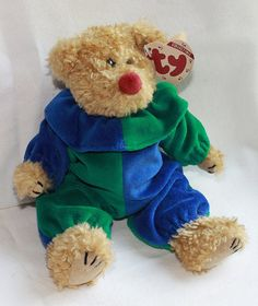 Ty Beanie Baby Bear - Piccadilly Clown - Attic Treasures Collection - Jester  - Collectible - Plush - Toy - Stuffed Animal aecdf04cb741
