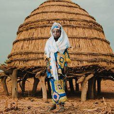 Fatuma Bonkano Adou of the Fulani tribe in the Sahara . Niger