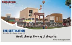 Nicely designed commercial complex, The Destination, is coming at NH-1,#Sonepat to change the way of shopping.
