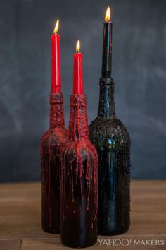 """We think it's imperative that you add to that """"spook-factor"""" with lots and lots of candles and if you can get those candles to drip blood - even better! For these """"bloody"""" candles, you want to make sure you don't pick up a pack of the """"no-drip"""" variety, after all, that would totally defeat the purpose"""