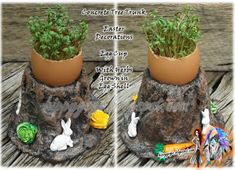 Craft Ideas Recycling Upcycling all Things Green Egg Storage, Lunch Table, Easter Lunch, Easter Egg Dye, Clay Flowers, Egg Shells, Egg Hunt, Color Schemes, Favors
