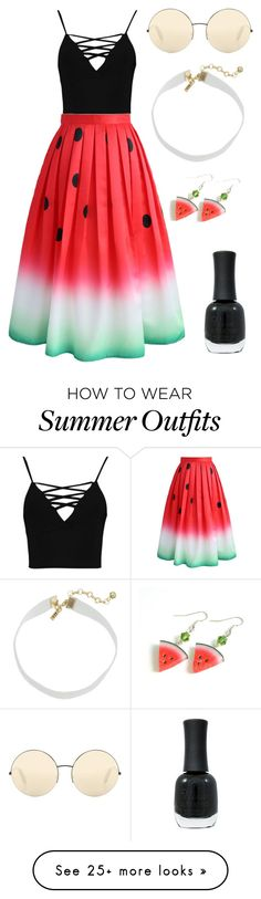 """""""Summer"""" by ajonas95 on Polyvore featuring Boohoo, Chicwish, Victoria Beckham, Charlotte Russe and Vanessa Mooney"""