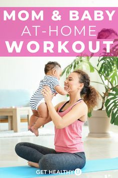 Many new mothers want to exercise after giving birth but making time for workouts post-partum is the biggest challenge. The solution? Workout WITH your baby at home! For this at-home workout, you only need a good pair of shoes, a mat and your baby! Toning Workouts, At Home Workouts, Step Workout, Post Partum, Muscle Building Workouts, Strong Body, Strength Workout, Burn Calories, Mom And Baby