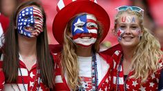 world cup face paint #USA