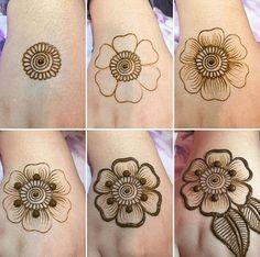 Tutorial Create Henna Design - 20 Best Easy Mehndi Design Step by Step Tutorial Images. The best tutorial step by step to create Henna design for beginner Henna Hand Designs, Mehndi Designs Finger, Basic Mehndi Designs, Mehndi Designs For Beginners, Mehndi Design Photos, Mehndi Designs For Fingers, Henna Flower Designs, Mehandi Designs, Henna Tattoo Hand