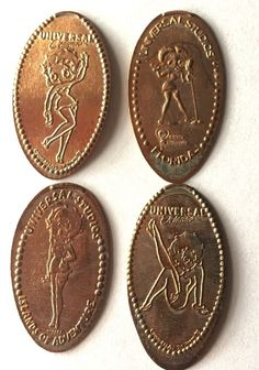 Elongated Pressed Penny Coin - BETTY BOOP - Universal Studios Florida