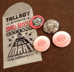 """Image of """"BAD BOY"""" 1-INCH BUTTON SET"""