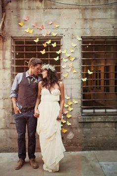 Mariposas para un Photocall Especial. - Mis Secretos de Boda