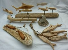 Some of our driftwood carvings