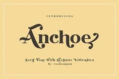 Anchoe Serif by cooldesignlab