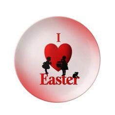 I Heart Easter Porcelain Plate