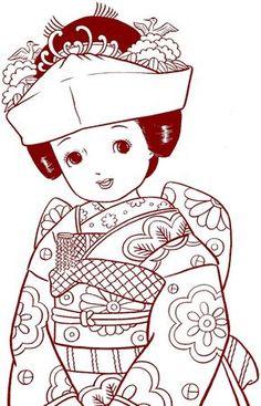 4_VINTAGE_JAPANASE_COLORING_BOOK_COLORIAGE_ANCIEN_JAPON_MALBUCH_COLOREAR
