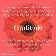 Gratitude is a gift!