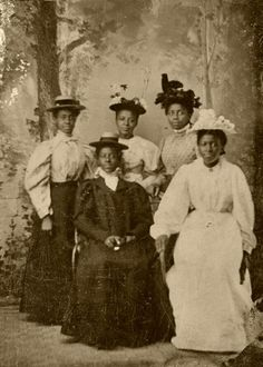 Mother and Daughters? Lovely African American Edwardians, 1890's