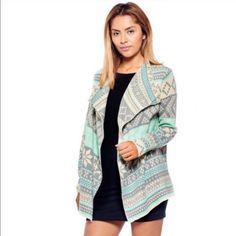 Aztec Cardigan Beautiful mint cardigan! Comment with your size when you're ready to purchase! Sweaters Cardigans