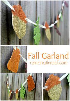 Fall Glitter Garland