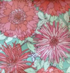 Cotton Fabric by Modern Quilt Studio - Collection Victorian Modern Patt 5981 - Pink - Flowers on Etsy, $6.00