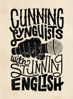 cunning lynguists with stunning english