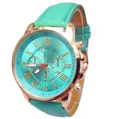 Relogio Feminino Women 9 Colors Stylish Numerals Faux Leather Analog Quartz Wrist Watch Hot Clock