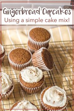 My Gingerbread Cupcake recipe is one for the books! Can you believe all it takes is some boxed cake mix and a blend of spices to bring these cupcakes to life? #kenarry #ideasforthehome Cake Mix Cupcakes, Cake Mix Muffins, Cupcake Cakes, Homemade Cupcake Recipes, Baking Recipes, Easy Desserts, Dessert Recipes, Dessert Ideas, Cupcake Calories